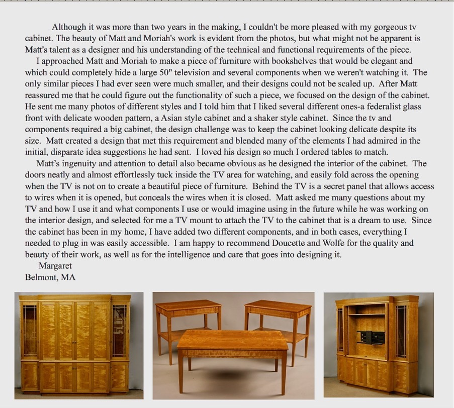Doucette And Wolfe Furniture Makers